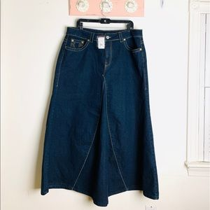 Ashley stewart denim mermaid maxi skirt size 18 W